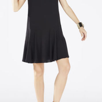 Clea A-Line Double Flounce Tank Dress - Black