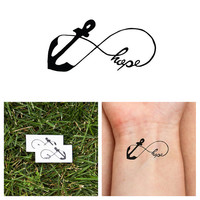 Infinity Anchor - Hope - Temporary Tattoo (Set of 2)