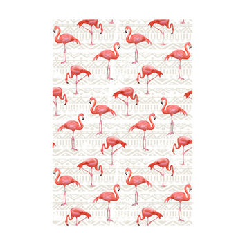 Flamingo Bird Background Adhesive Art Print