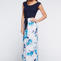 What a Lovely Thing a Rose is Maxi Dress - Blue