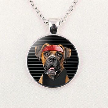 Rottweiler Cabochon Fashion Necklace