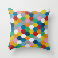 Honeycomb 3 Throw Pillow by Project M