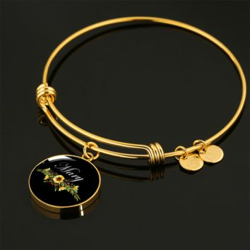 Mary v5b - 18k Gold Finished Bangle Bracelet