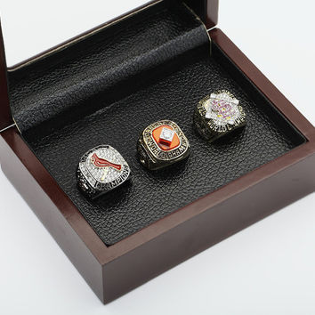 Replica One set (3PCS)  MLB 1982,2006 And 2011 ST.LOUIS CARDINALS WORLD SERIES Championship Rin