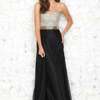 Madison James 15-140 Beaded Chiffon Prom Dress Evening Gown