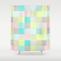 Decorated Pixel II Shower Curtain by Louise Machado