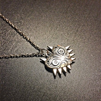 Zelda Inspired Majora's Mask 3D Pendant Necklace- Zelda Necklace Dark Geeky Jewelry Nerd jewelry Gaming jewelry Nintendo jewelry Skull Kid