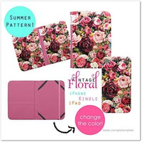 iPhone Kindle and iPad Vintage Floral Cases