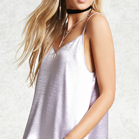Crinkled Satin V-Neck Cami