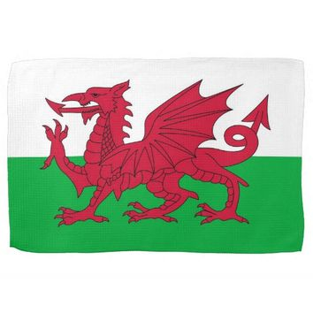 Kitchen towel with Flag of Wales