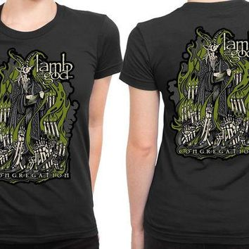 DCCK7H3 Lamb Of God Congregation Warbeast Illustrations 2 Sided Womens T Shirt