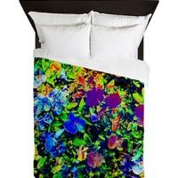Amazing Digital Garden Queen Duvet