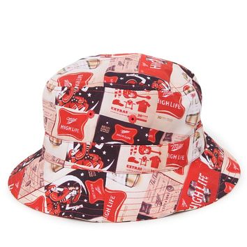 Miller High Life Miller High Life Bucket Hat - Mens Backpack - Red - One