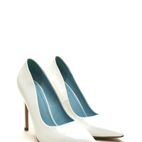 A-Game Pointy Faux Patent Pumps GoJane.com