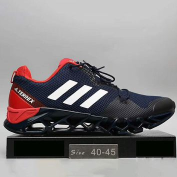 Adidas Men Running Sport Casual Shoes Sneakers Black+Red G-A0-HXYDXPF