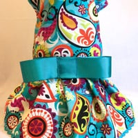 RockinDogs Teal Paisley Dog Dress by RockinDogs on Etsy