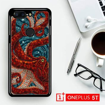 Kraken Octopus Stained Glass L1586  OnePLus 5T / One Plus 5T Case