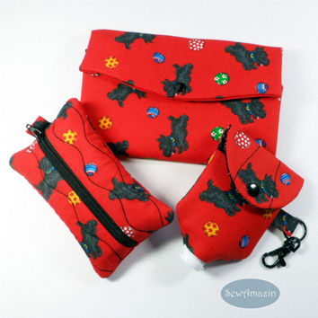 Playful Scottie Dog Accessories, Scottie Wallet, Scottish Terrier Gift