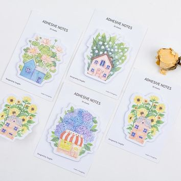 4 pcs/Lot Dream garden sticky note Flower house post it memo pad bookmark Stationery Office agenda sticker School supplies A6702