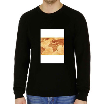 world map vintage - Sweater for Man and Woman, S / M / L / XL / 2XL **