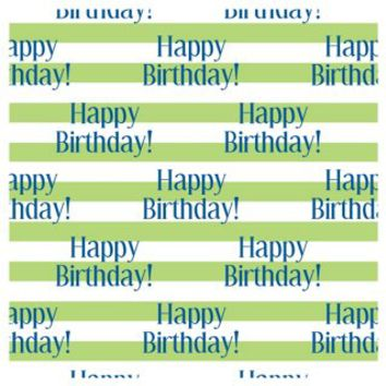 Happy B-day Wrapping Paper Roll, Green, Wrapping Paper
