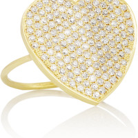 Jennifer Meyer - 18-karat gold diamond heart ring