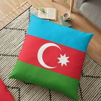 'Azerbaijan' Floor Pillow by planetterra