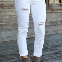 White Sexy Crop Boyfriend Skinny Jeans Blue Shop Simply Me Boutique – Simply Me Boutique