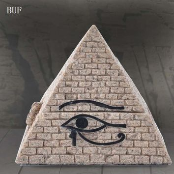 BUF Egyptian Pyramids Statue Ornament Egypt Pyramids Sculptures Resin Craft Home Decoration Accessories Pyramid Jewelry Box