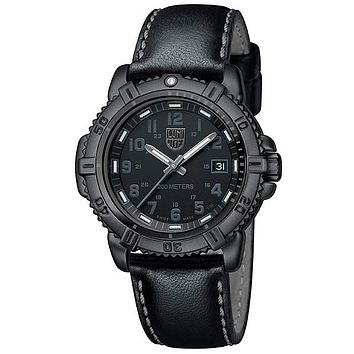 Luminox 38mm Steel Colormark Blackout Womens  - Leather Strap - Retired