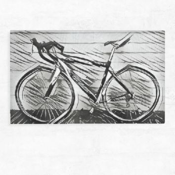 BNW BIKE WOOD CUT PRINT