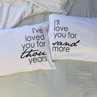 couples pillow cases I Have Loved You For Thousand Years Christina Perri Pillow Thousand Years Pillowcase Wedding Gift His and Hers Pillows