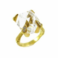 Herkimer Claw Twig Ring
