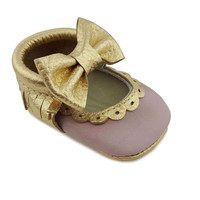 First Steps Sweet Mary Jane Moccasin in Pink