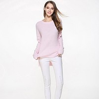 Spring Autumn New Fashion Women O-neck Thin Basic Women Sweater Casual Warm Knitted Pullovers Female