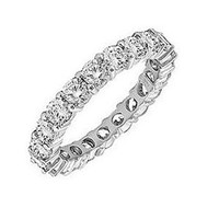 Diamond Eternity Wedding Engagement Band Ring 1 CT total Round Cut 14K Gold
