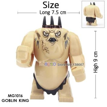 Single Sale Lord of the Rings Goblin King Cave Troll Big Size Figures Building Blocks Model Bricks Educational Toy Children