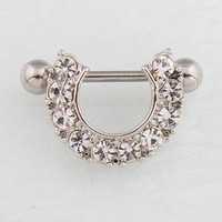 Retail 2 pieces/lot Nipple ring Woman body Piercing jewelry 14G 316L surgical steel bar Nickel-free Free shipping TAIERS