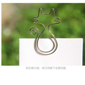 Paper clips mental modelling cat bird flower beautiful paper clips with kawaii Greeting card office binding stationary clip