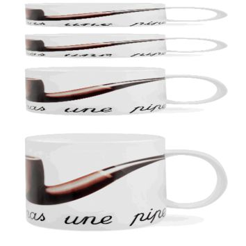 Magritte Pipe Mug - The Afternoon