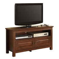 """44"""" Brown Wood TV Stand Console"""