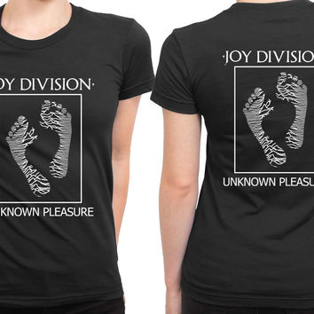 Joy Division Unknown Pleasure Ladies Foot 2 Sided Womens T Shirt