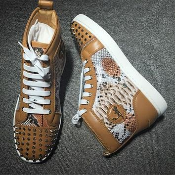 Cl Christian Louboutin Lou Spikes Style #2211 Sneakers Fashion Shoes