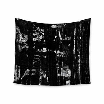 """Bruce Stanfield """"Distressed Grunge 101"""" Black White Painting Wall Tapestry"""