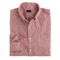 J.Crew Mens Tall Chambray Shirt In Anchor Print
