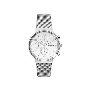 Steel-Mesh Chronograph Watch Skagen Ancher Water resistant