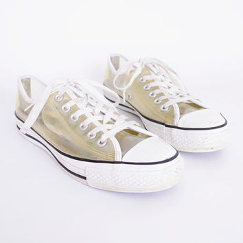 680d9e31bf29 Clear Converse Chuck Taylor All Star Low Top Tennis Shoe Transparent  Plastic 90s Shoe 90s Grunge