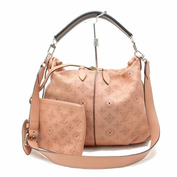 Authentic Louis Vuitton Shoulder Bag Selene PM M94276 Pinks Mahina 171045