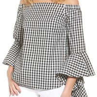 Chelsea28 Gingham Off the Shoulder Blouse | Nordstrom