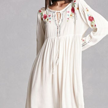 Velzera Embroidered Swing Dress